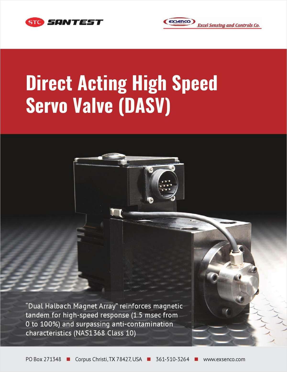 Direct Acting High Speed Servo Valve (DASV)
