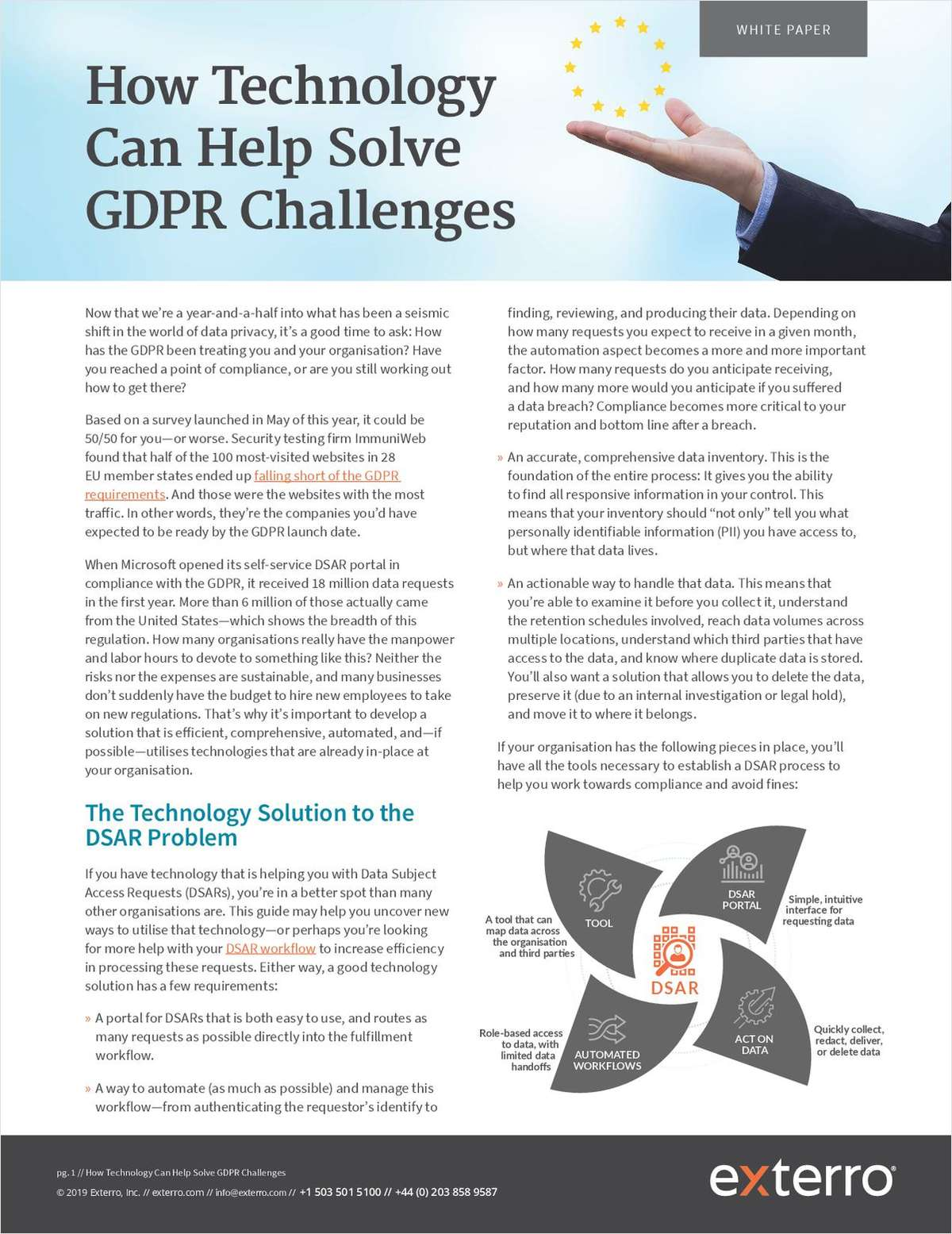How Technology Can Help Solve GDPR Challenges