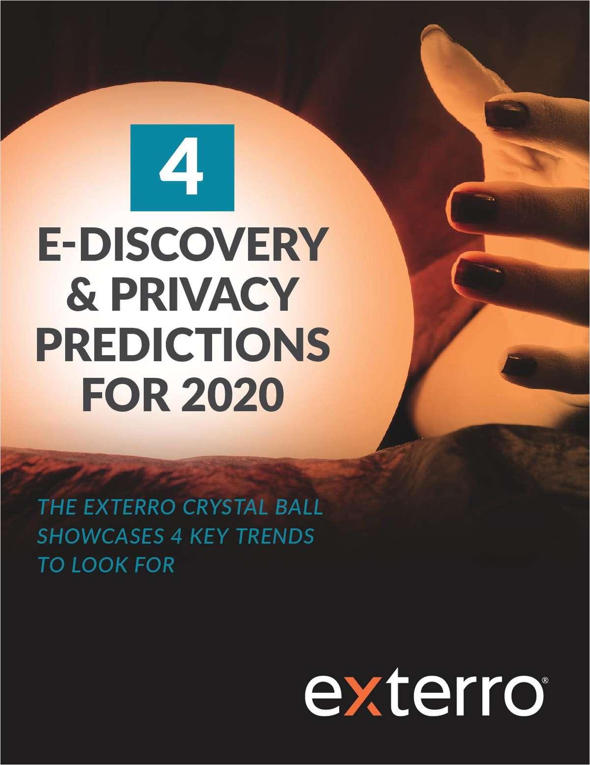 4 E-Discovery & Privacy Predictions for 2020