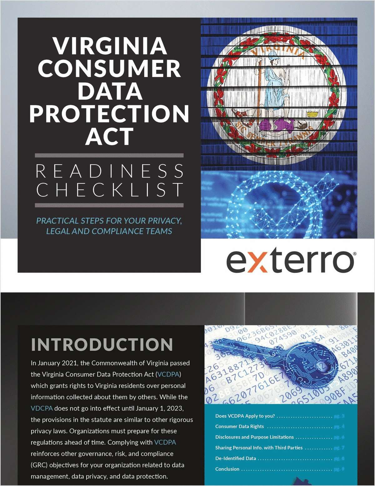 Virginia Consumer Data Protection Act: Readiness Checklist