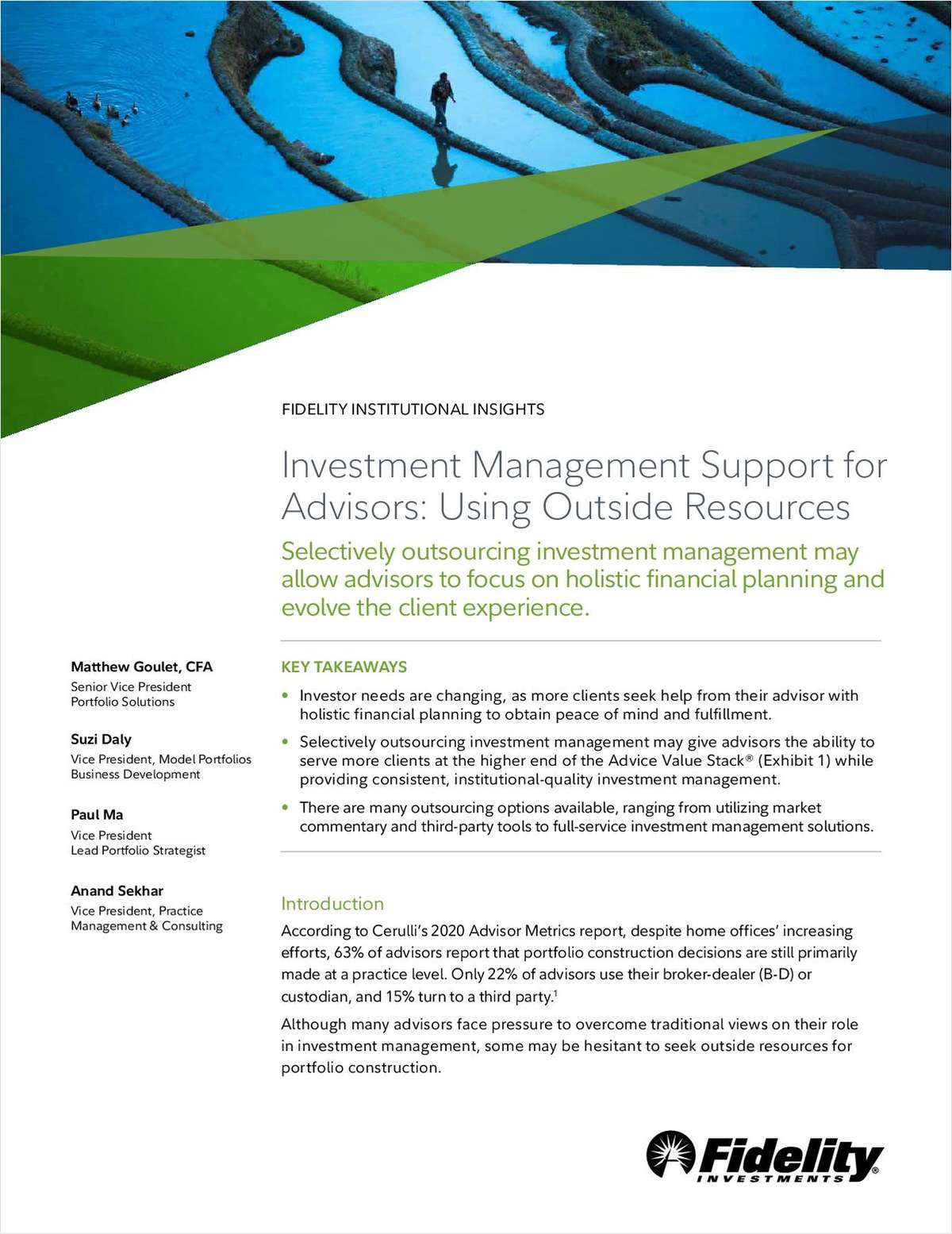 Investment Management Support for Advisors: Using Outside Resources
