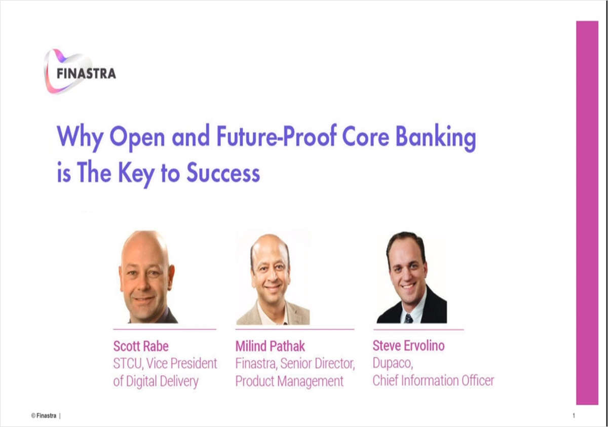 Why Open and Future-Proof Core Banking is the Key to Success