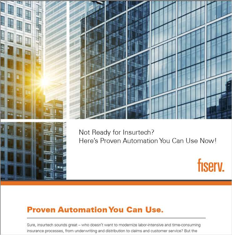 Not Ready for Insurtech? Proven Automation You Can Use Now
