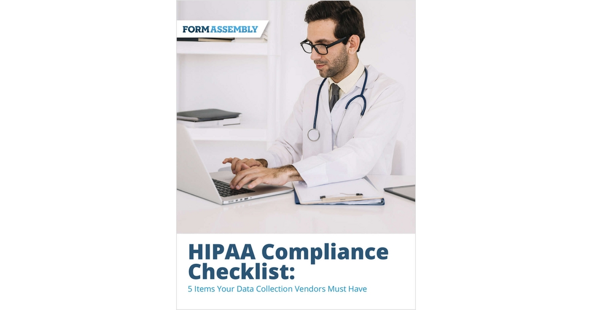 HIPAA Compliance Checklist, Free FormAssembly Checklist