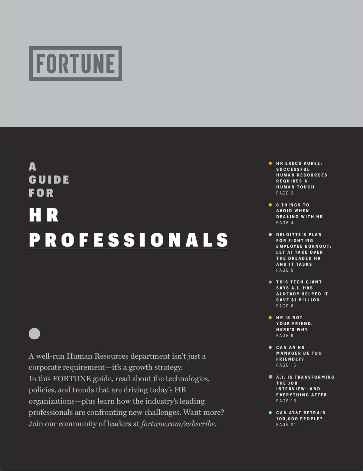 A Guide For HR Professionals