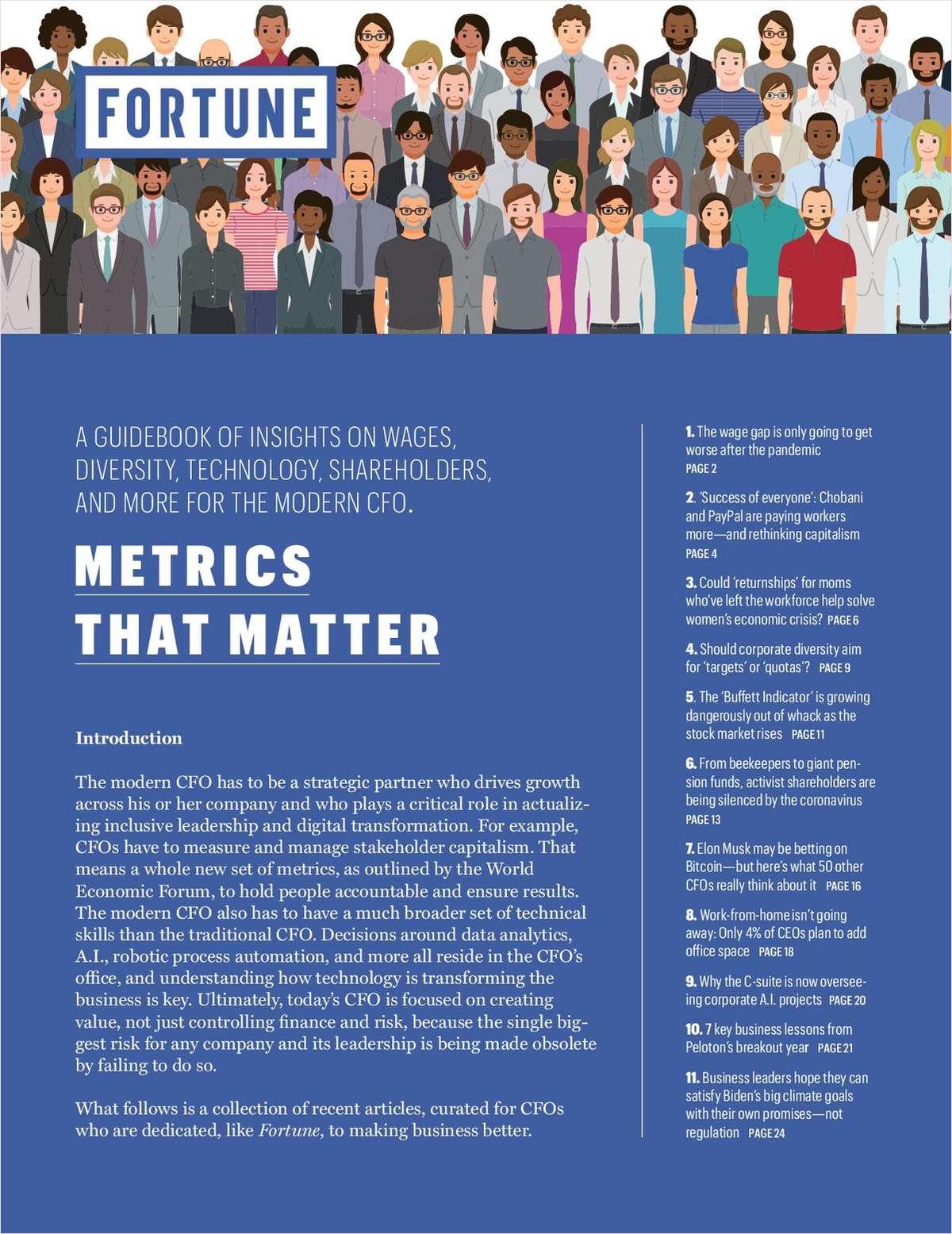 CFO Metrics That Matter