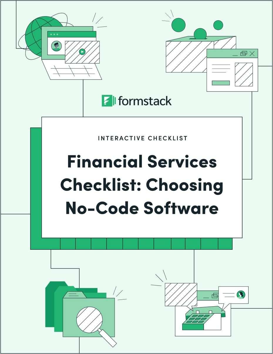 Financial Services Checklist: Choosing No-Code Software
