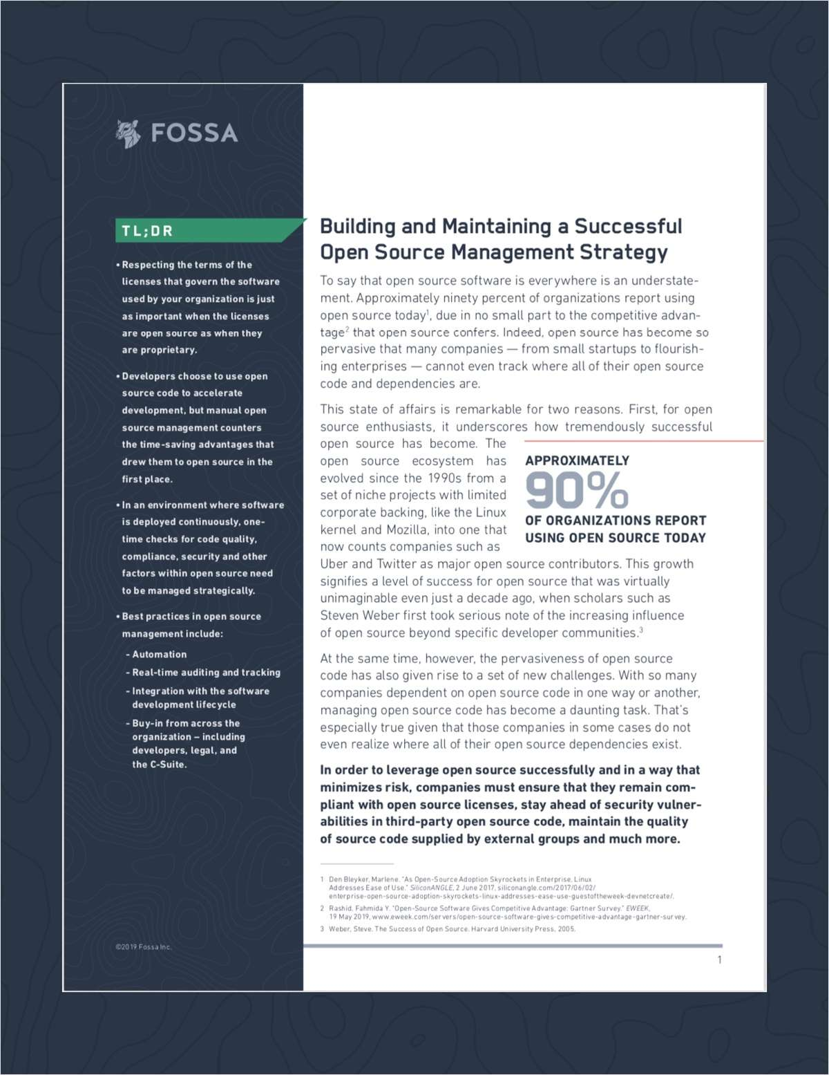 Building a Successful Open Source Management Strategy