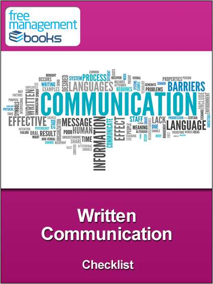 Written Communication Checklist