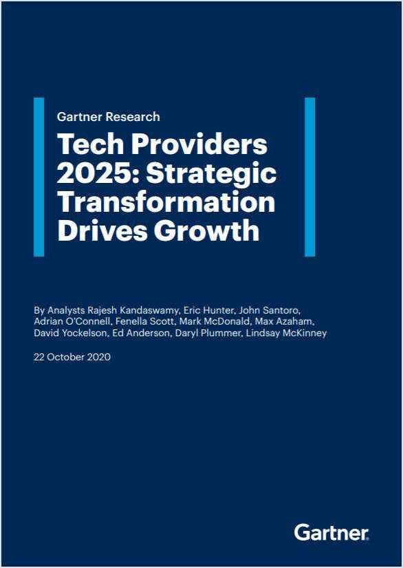 Gartner special report: Tech Providers 2025