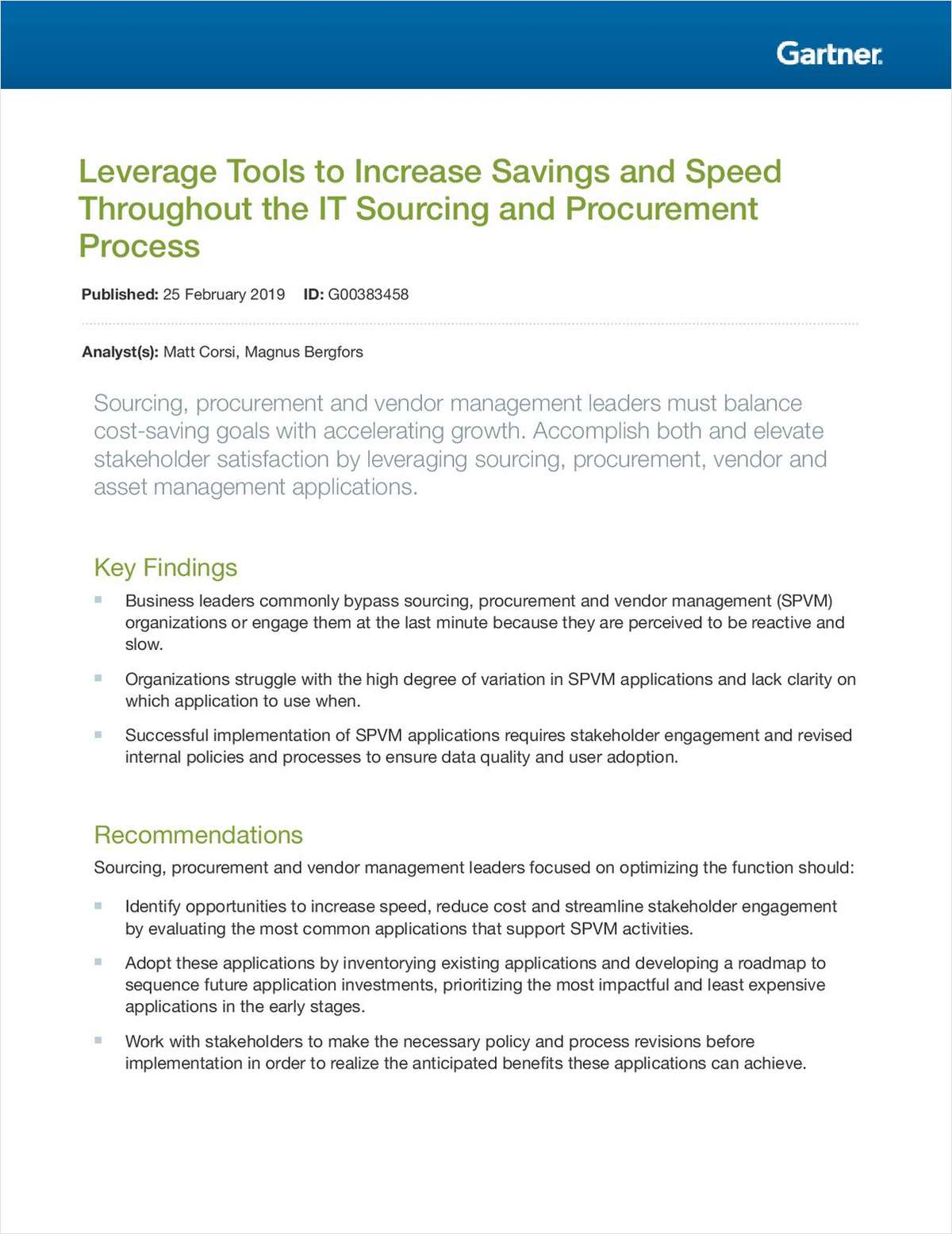 Leverage Tools to Increase Savings and Speed throughout the