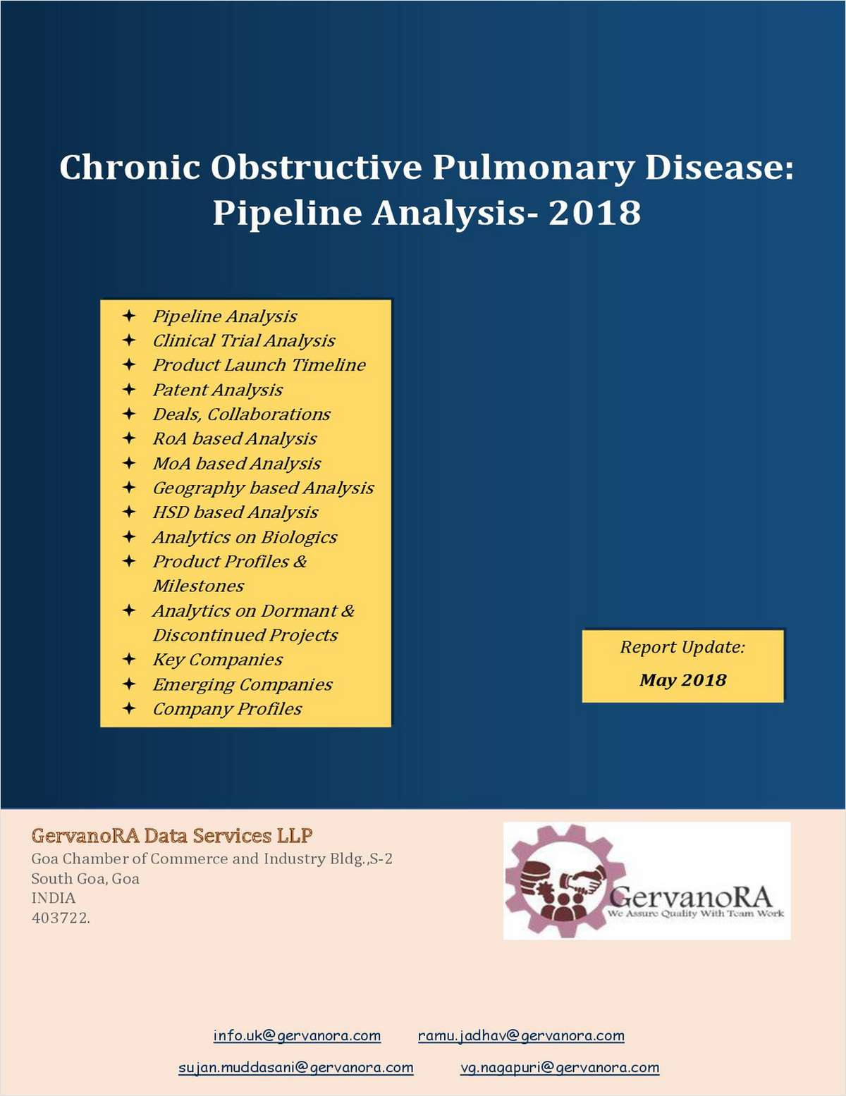Chronic Obstructive Pulmonary Disease- Pipeline Analysis 2018
