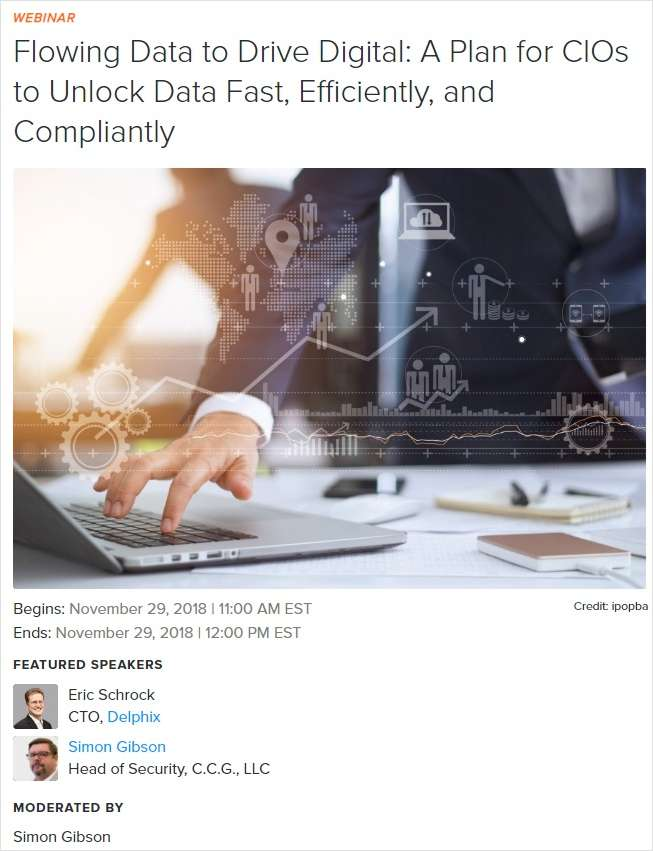 Flowing Data to Drive Digital: A Plan for CIOs to Unlock Data Fast, Efficiently, and Compliantly