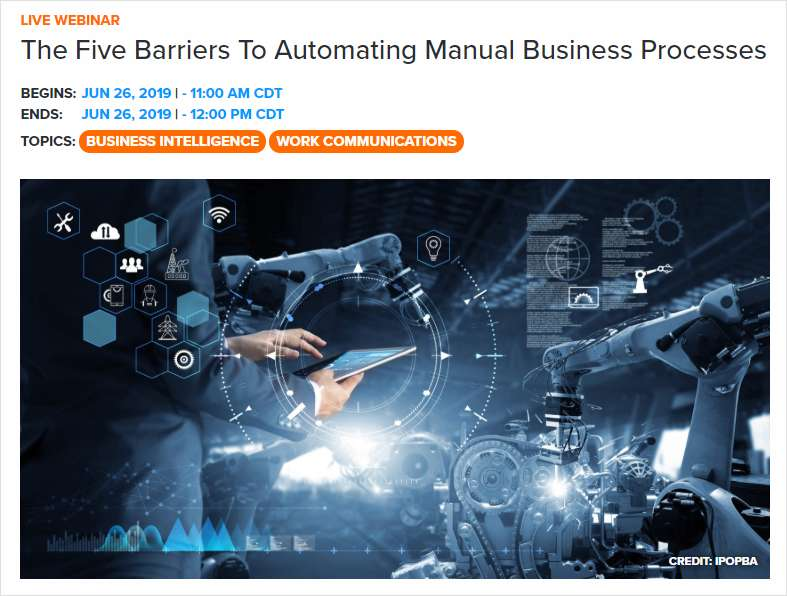 The Five Barriers To Automating Manual Business Processes
