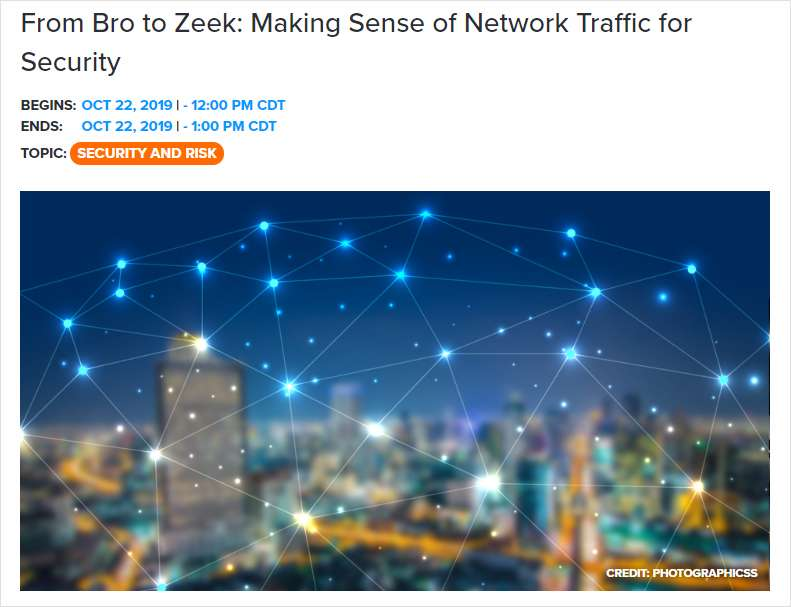 From Bro to Zeek: Making Sense of Network Traffic for Security