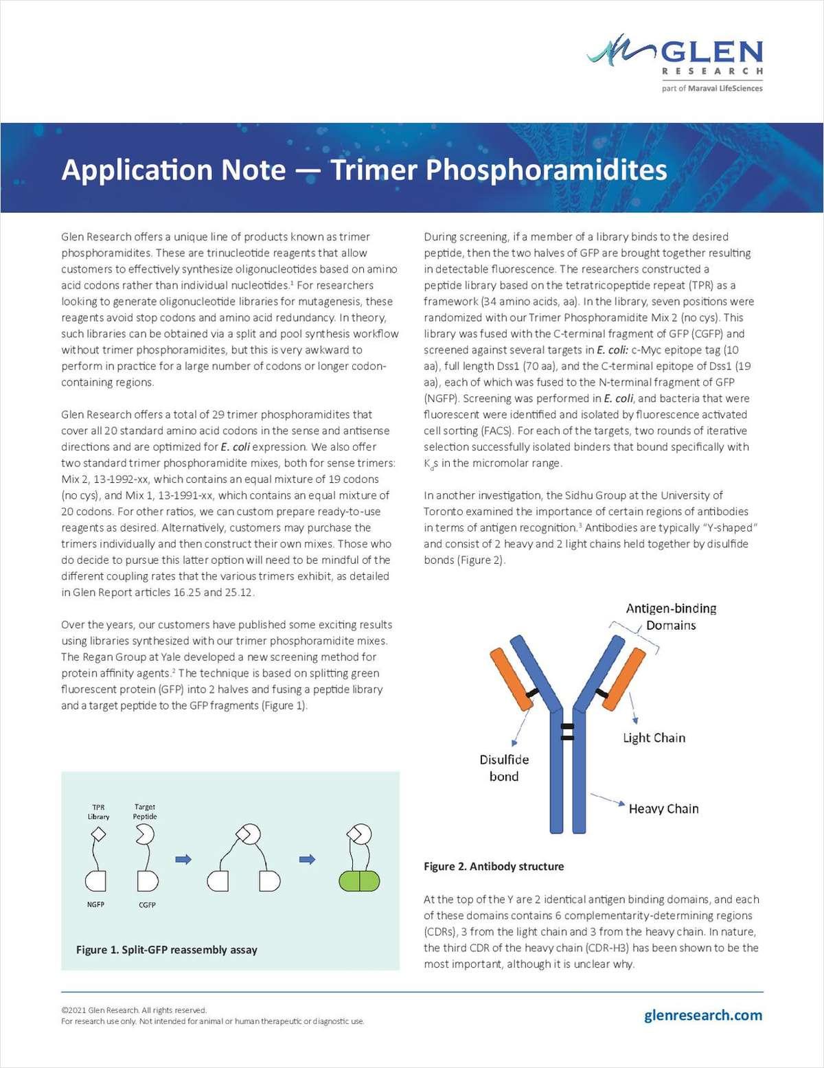 Application Note - Trimer Phosphoramidites