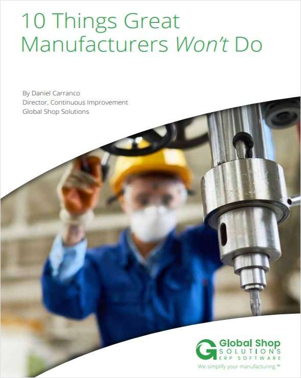 10 Things Great Manufacturers Won't Do