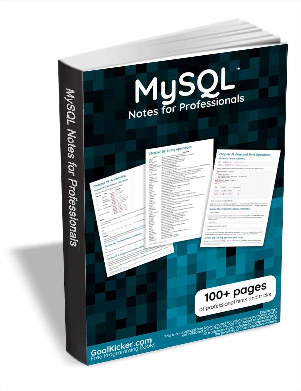 MySQL Notes for Professionals