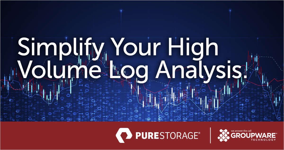 Using FlashBlade to Simplify High-Volume Log Analysis