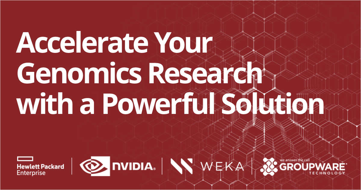 Accelerated AI Genomic Discoveries with Parabricks and WekaIO Powered by HPE and NVIDIA
