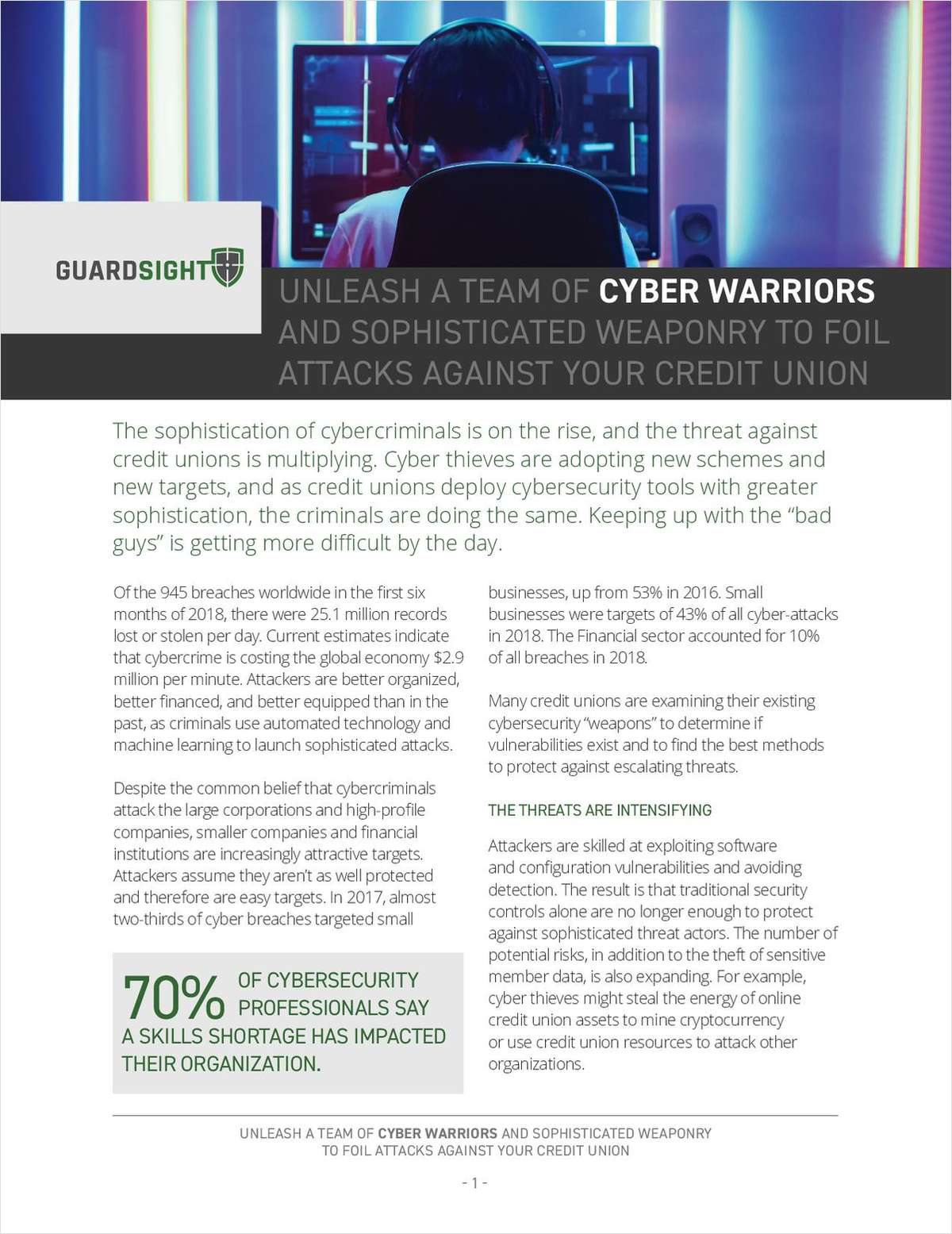 Unleash a Team of Cyber Warriors to Protect Your Credit Union