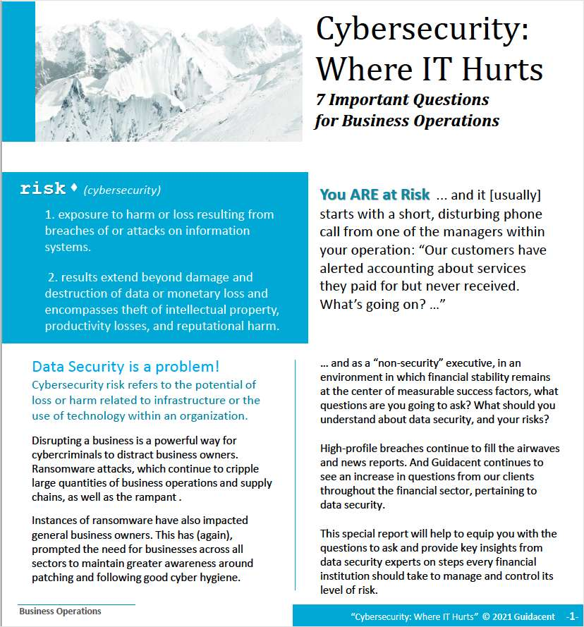 Are you at risk? 7 Important Questions For Business Operations