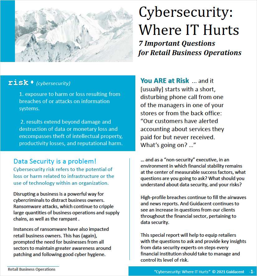 Are you at risk? 7 Important Questions For Retail Business Operations
