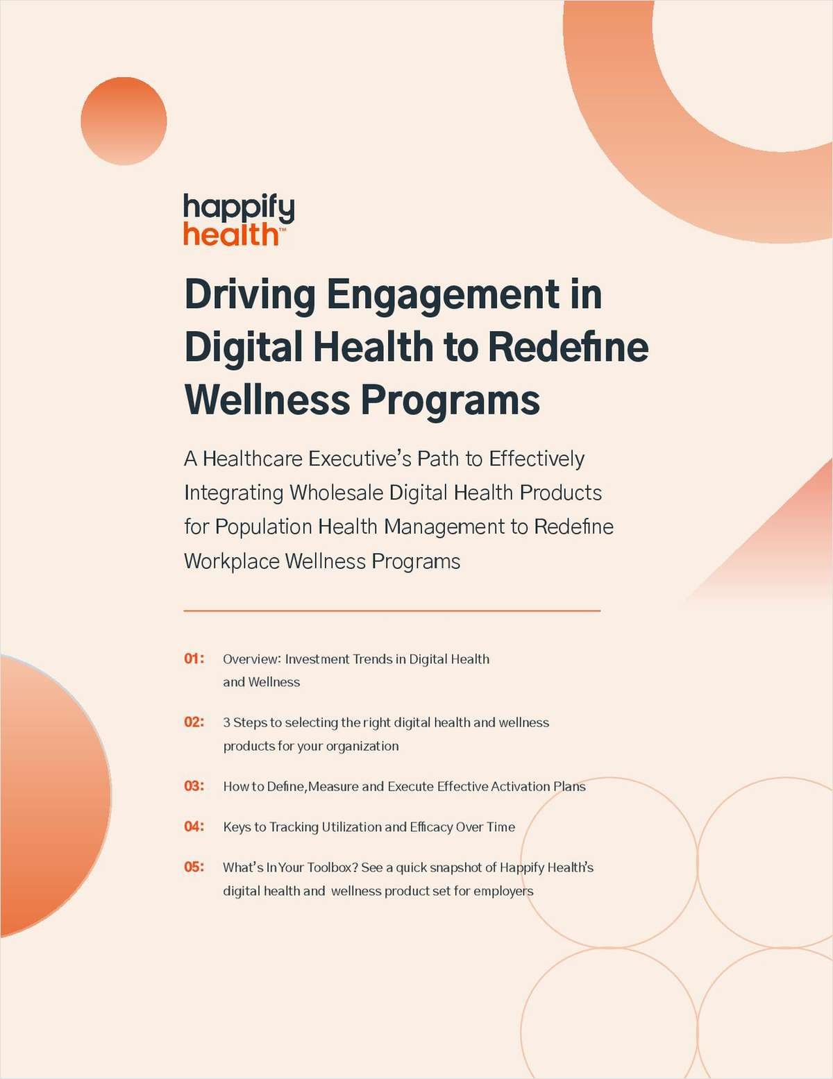Driving Engagement in Digital Health to Redefine Wellness Programs