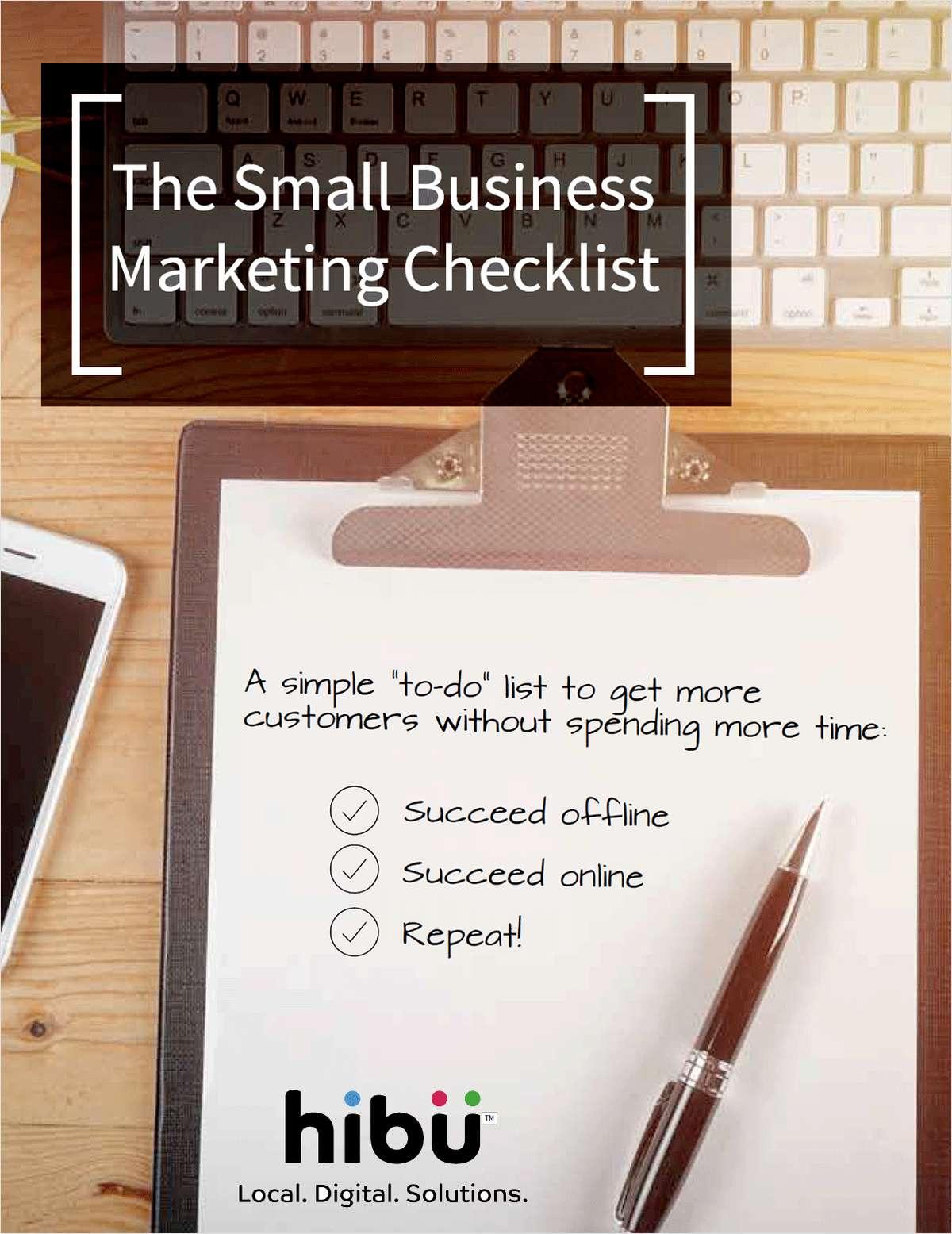 The Small Business Marketing Checklist