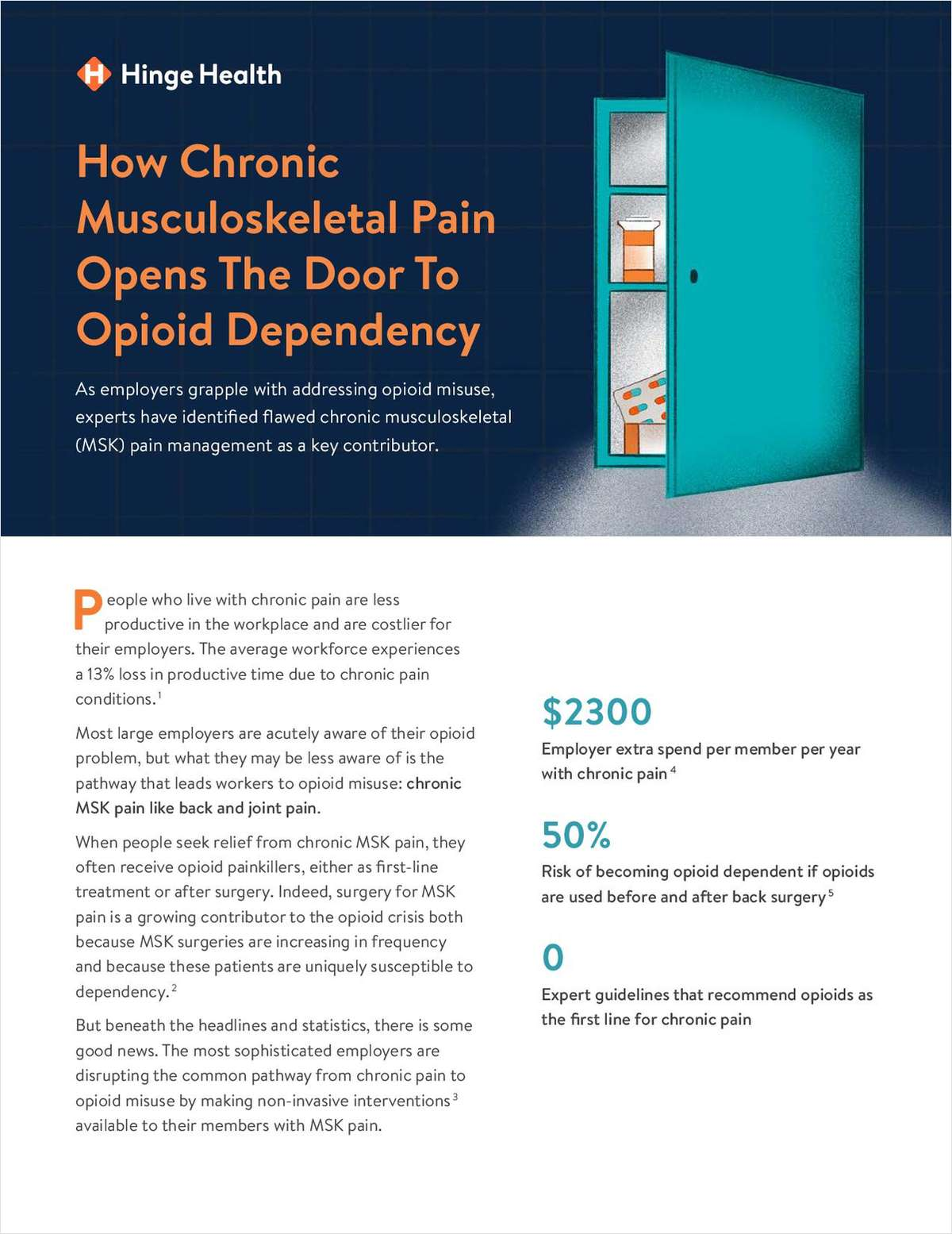 Help Clients Address Chronic Pain & Opioid Misuse Among Employees