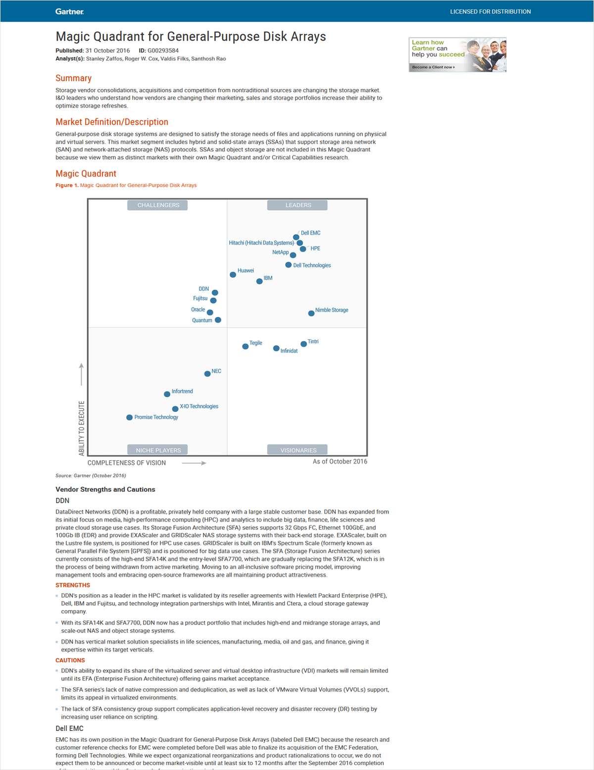 Gartner magic quadrant trading systems
