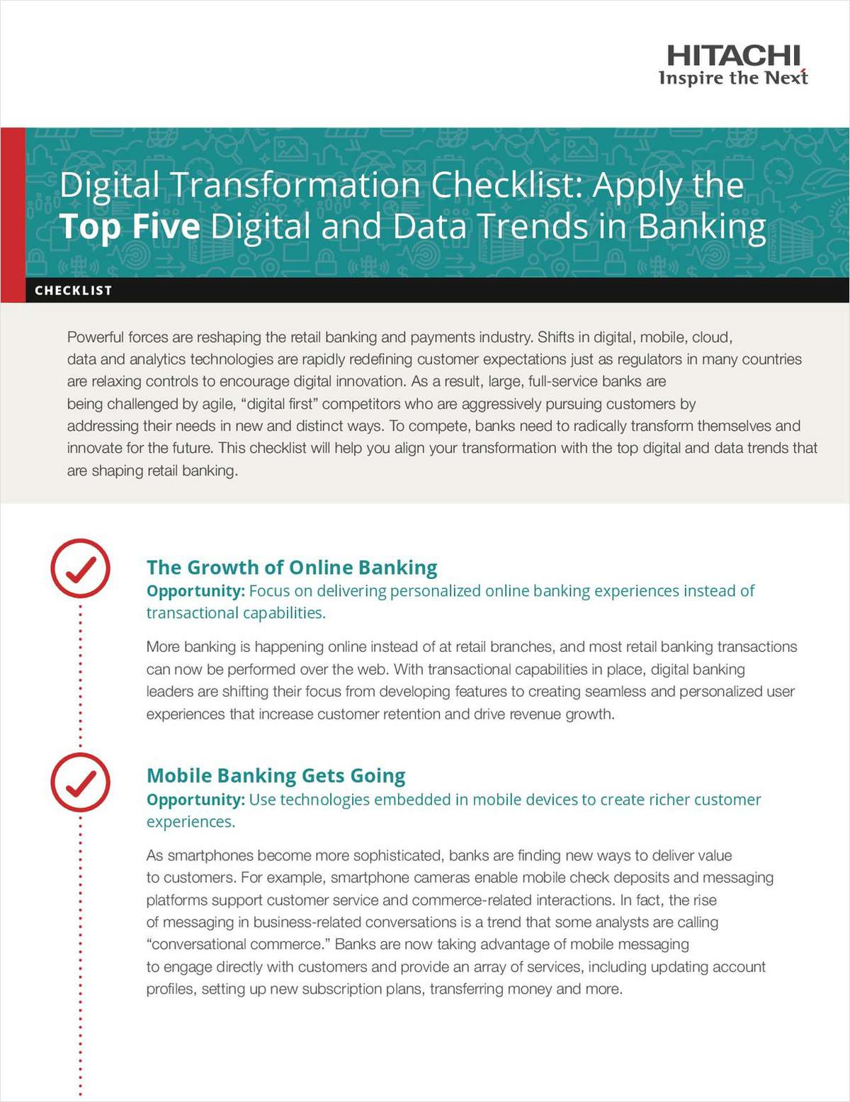 DX Checklist: Apply the Top Five Digital and Data Trends in Banking