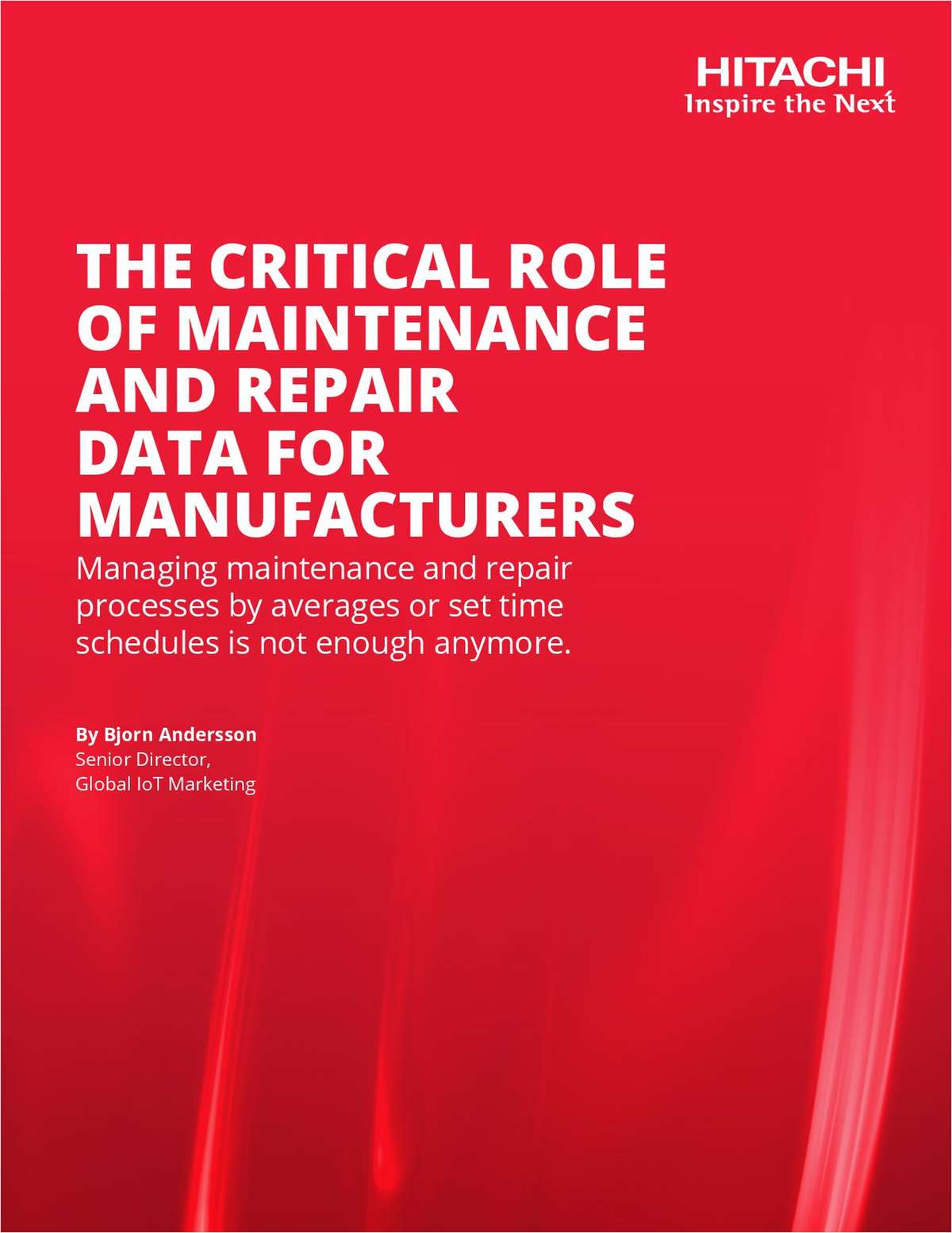 The Critical Role of Maintenance and Repair Data for Manufacturers