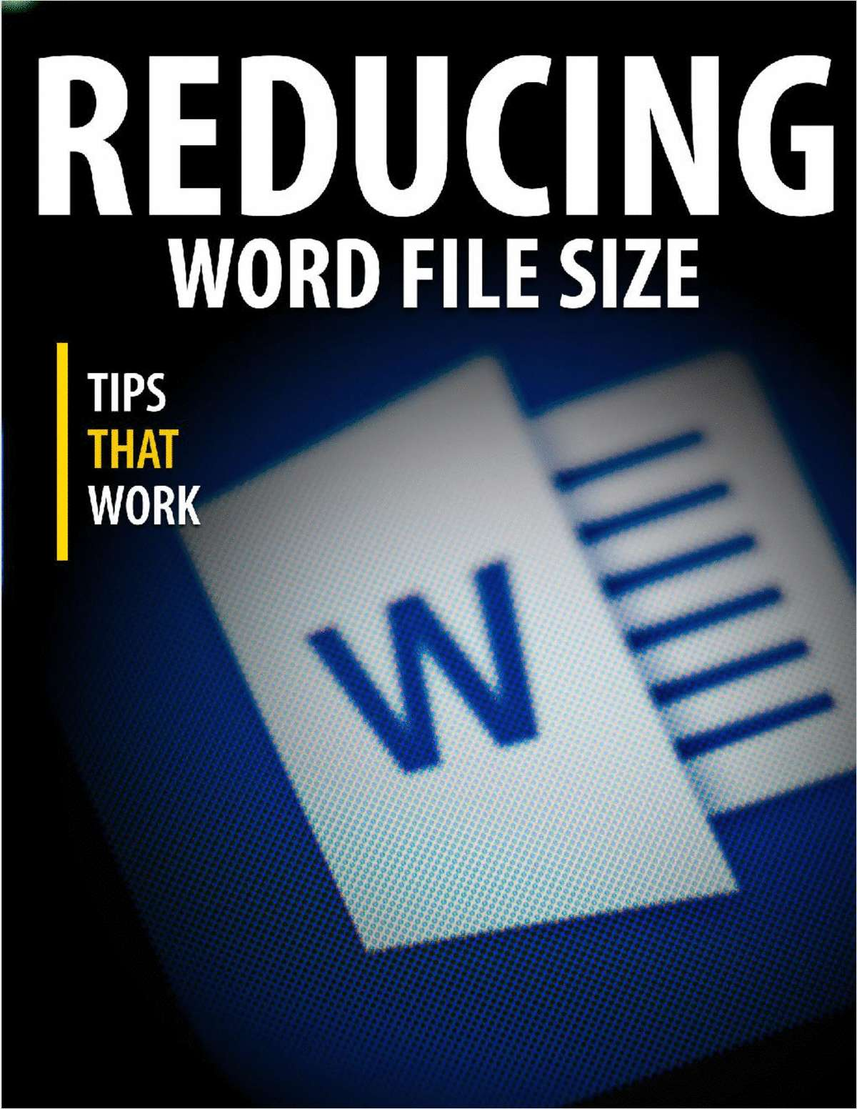 Reducing the Size of a Microsoft Word Document