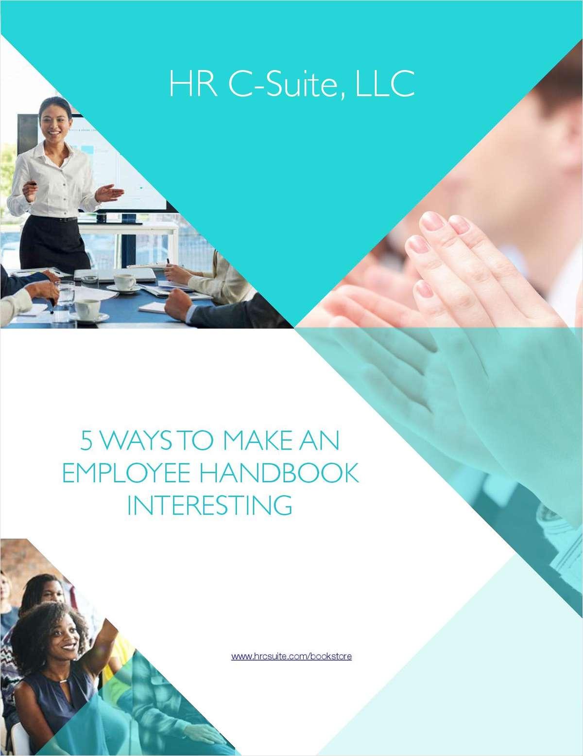 5 Ways To Make An Employee Handbook Interesting