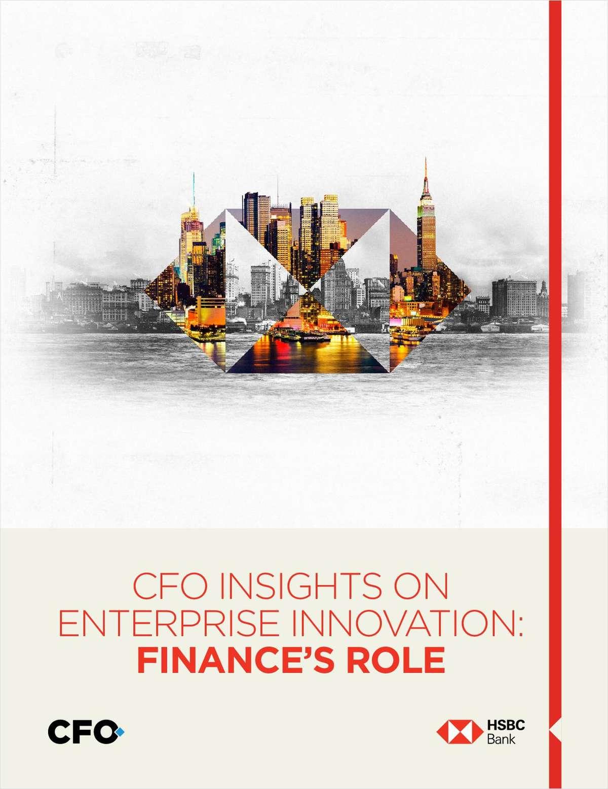 CFO INSIGHTS ON  ENTERPRISE INNOVATION: FINANCE'S ROLE