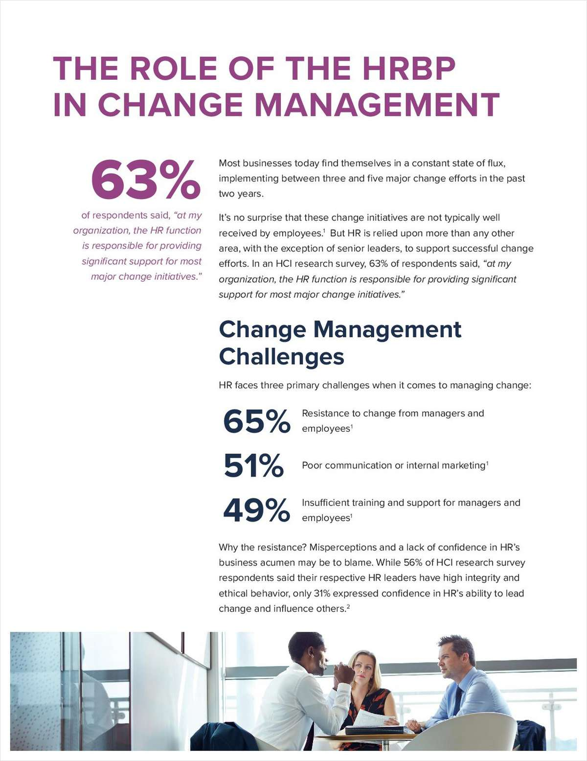 The Role of the HRBP in Change Management
