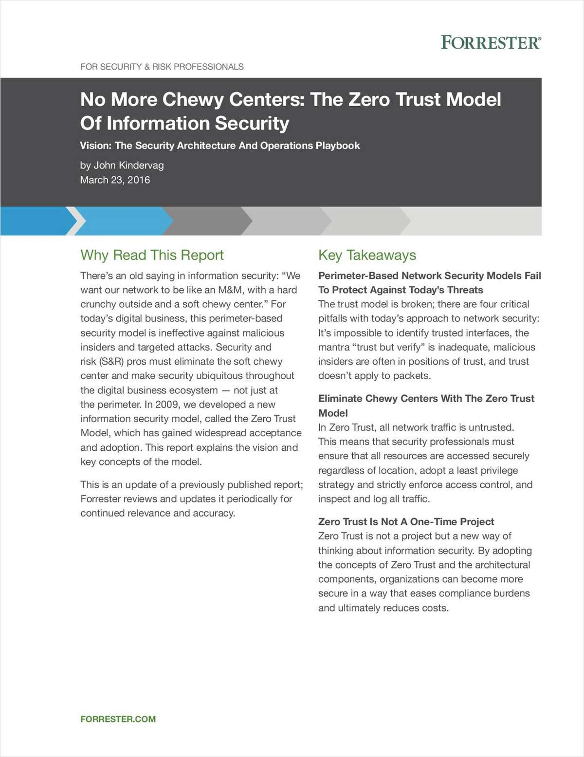 No More Chewy Centers: The Zero Trust Model Of Information Security