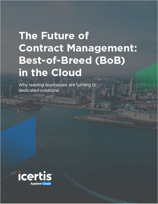 The Future of Contract Management: Best-of-Breed in the Cloud