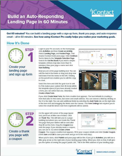 How to Build a Landing Page in 60 Minutes