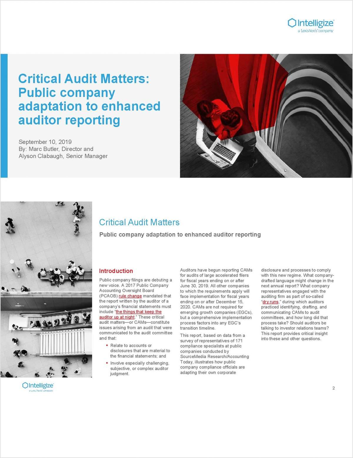Critical Audit Matters: Public Company Adaptation to Enhanced Auditor Reporting