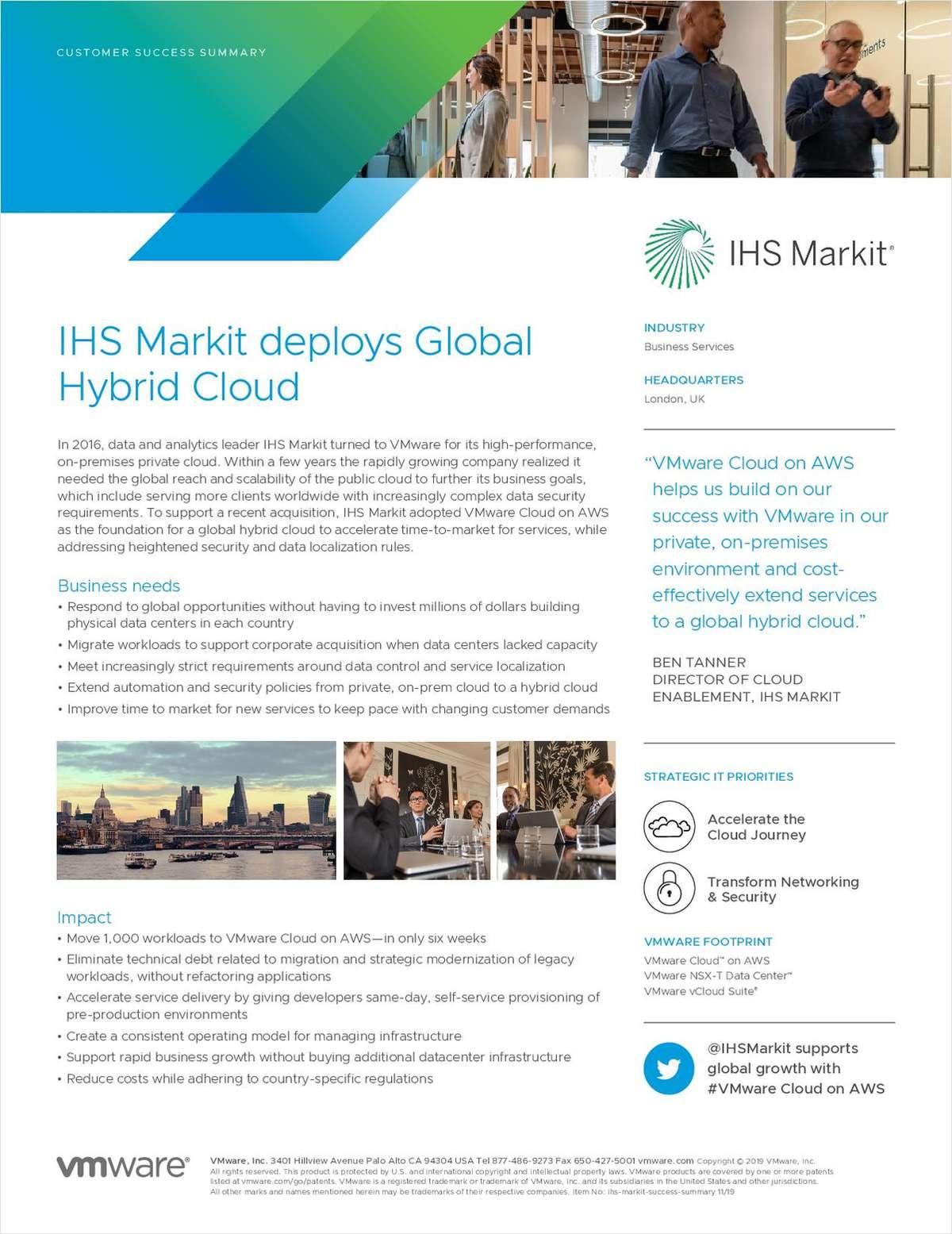 IHS Markit deploys Global Hybrid Cloud