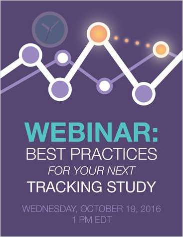 Best Practices for Your Next Tracking Study