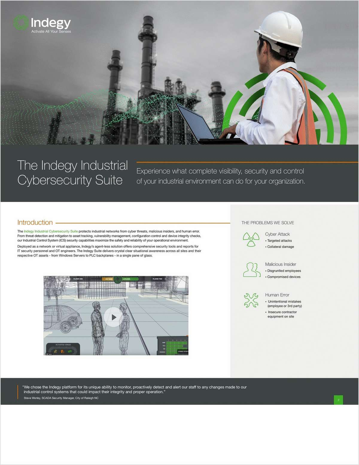 The Indegy Industrial Cybersecurity Suite