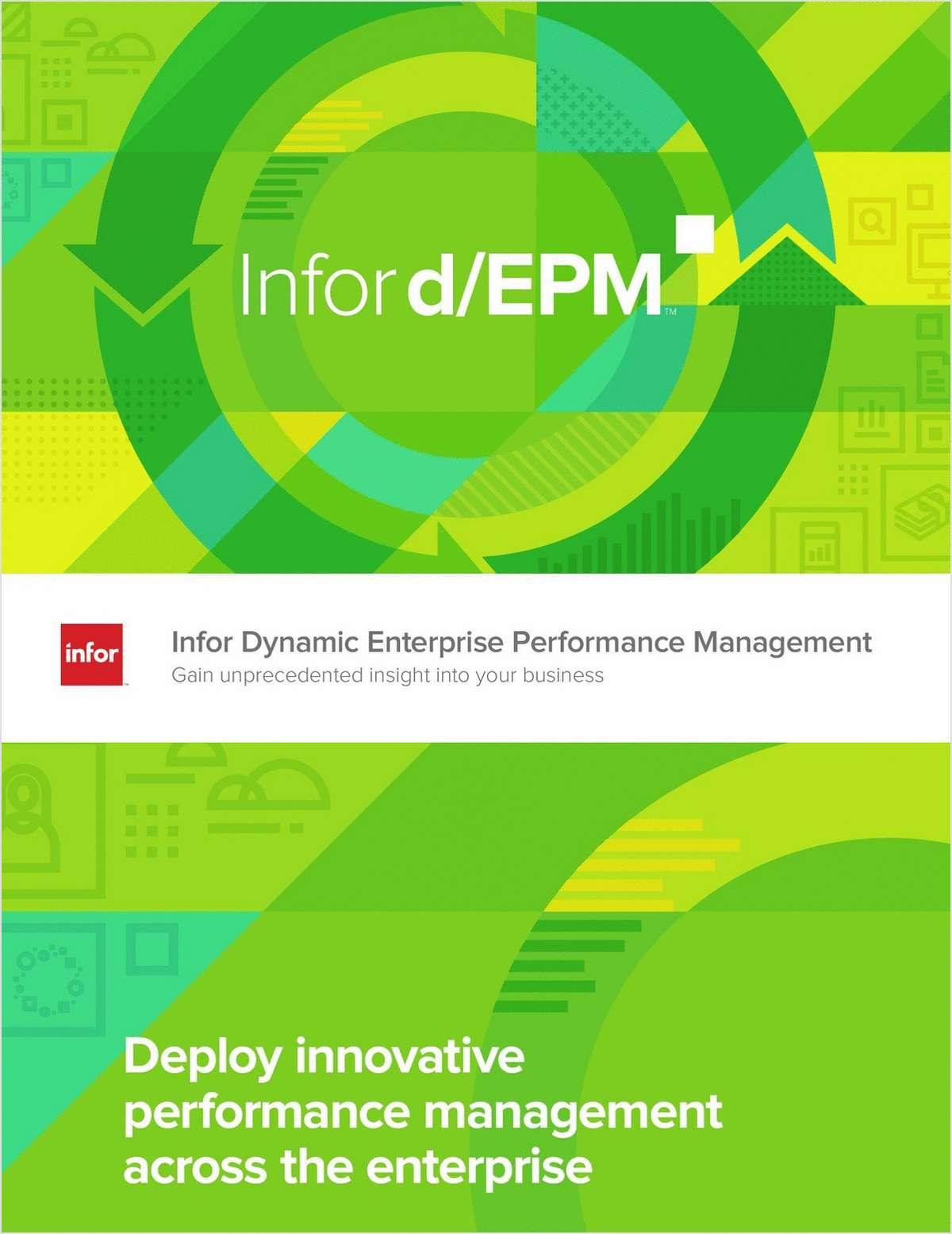 Infor Dynamic Enterprise Performance Management