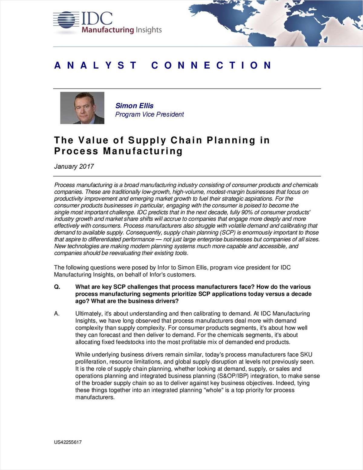 The Value of Supply Chain Planning in Process Manufacturing
