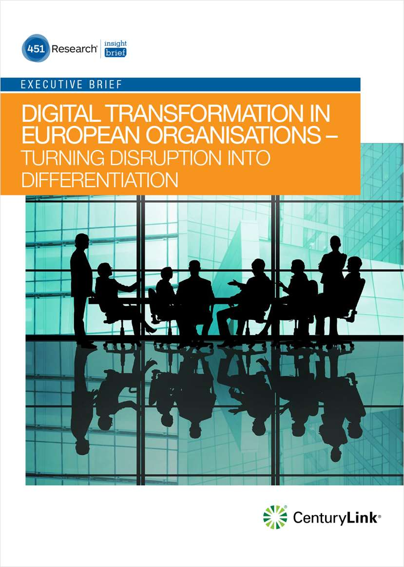 Digital Transformation in European Organisations-Turning Disruption into Differentiation