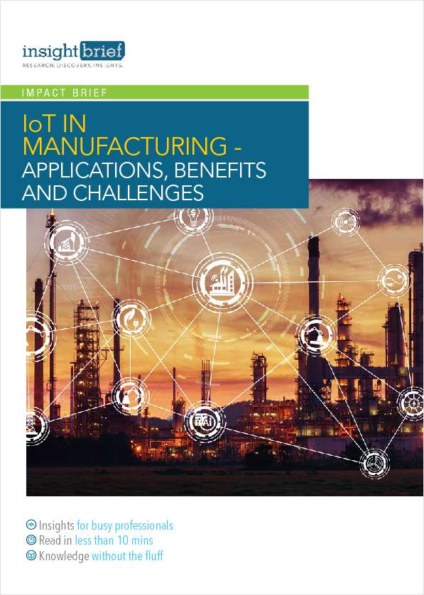 IoT in Manufacturing - Applications, Benefits and Challenges