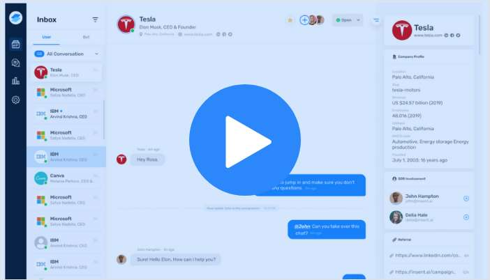 Video Tour of Insent's Chat Platform