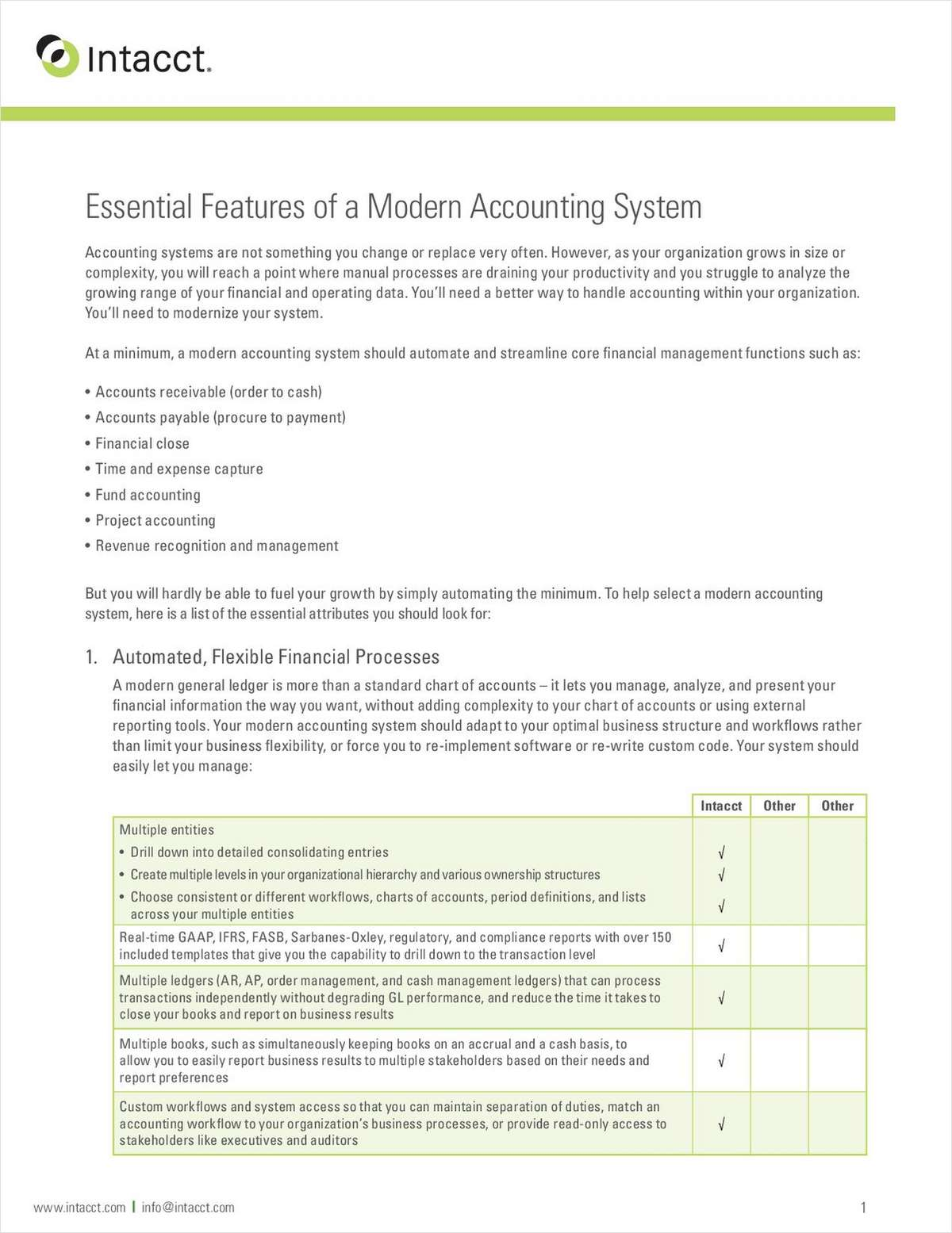 Essential Features of a Modern Accounting System